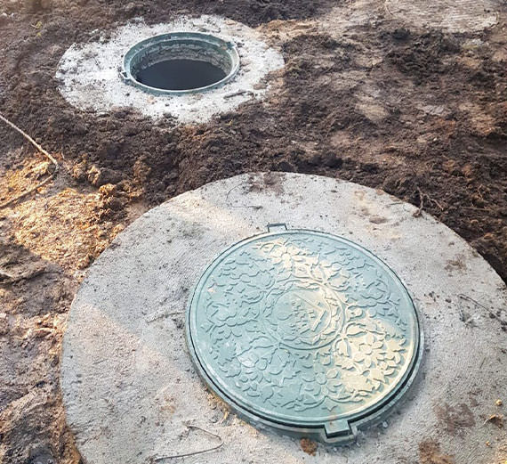 Септик из колец в Одинцовском районе